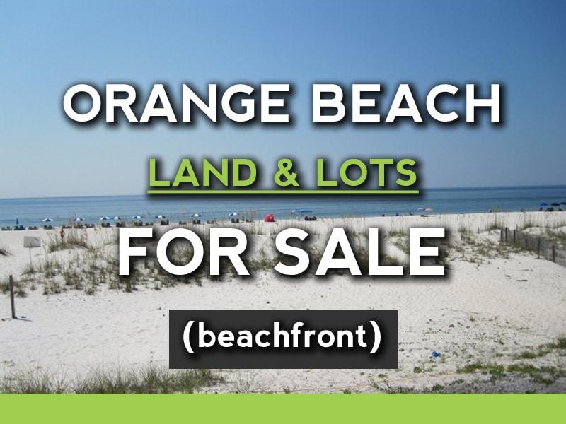 Orange Beach Gulf Front Land For Sale