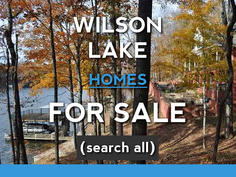 wilson lake waterfront homes for sale