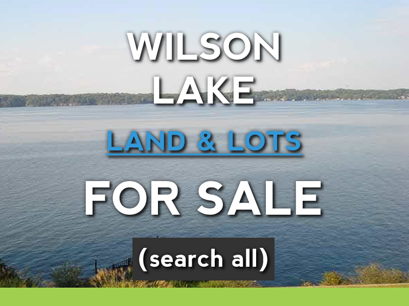 wilson lake waterfront lots for sale