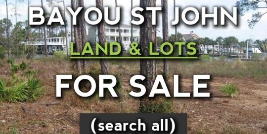 Bayou St John lots for sale