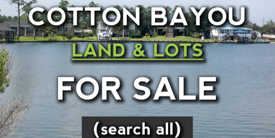 Orange Beach Lots and Land for sale on Cotton Bayou